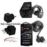 ATTN: NO APO/FPO ORDERS WILL BE ACCEPTED DUE TO HEAVY WEIGHT.. Seven Star SF500 500W 110v/220v 220v/110v Step Up/Down Automatic Transformer Adapter + Italian Plug Adapter . FREE SHIPPING UP-GRADE T To PRIORITY MAIL From USA
