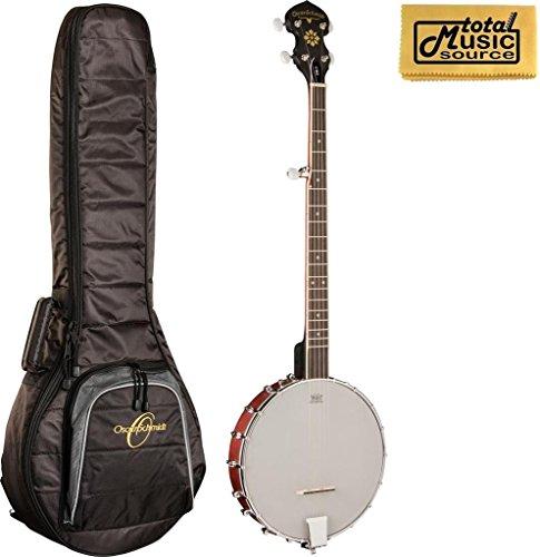 Oscar Schmidt OB3 5-String Banjo With Oscar Padded Gig Bag, Polish Cloth by Oscar Schmidt