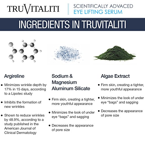 TruVitaliti-Truly Flawless Eye Lifting Serum- Amplifies Anti-Aging Results- Diminishes the Appearance of Fine Line-Moisturize and Soften Skin-Inhibit the Formation of New Wrinkles