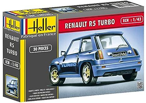 Glow2B Heller - 80150 - Maquete -Coche - Renault R5 Turbo - 1/43: Amazon.es: Juguetes y juegos