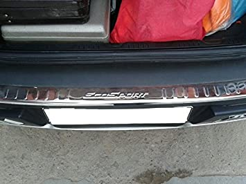 Front Line Chrome Accessory For Ford Ecosport Rear Bumper Chrome Plate Amazon In Car Motorbike