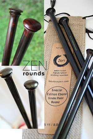 ZEN Knitting Needles - Rosewood Single Point 14 Inch (14 inch - US15/10.0mm)