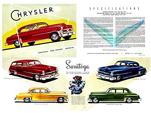 Chrysler Spec Sheet (1952) Illustrated Car Brochure Print on 10 Mil Archival Satin Paper Multi Color Front Side Static View 16