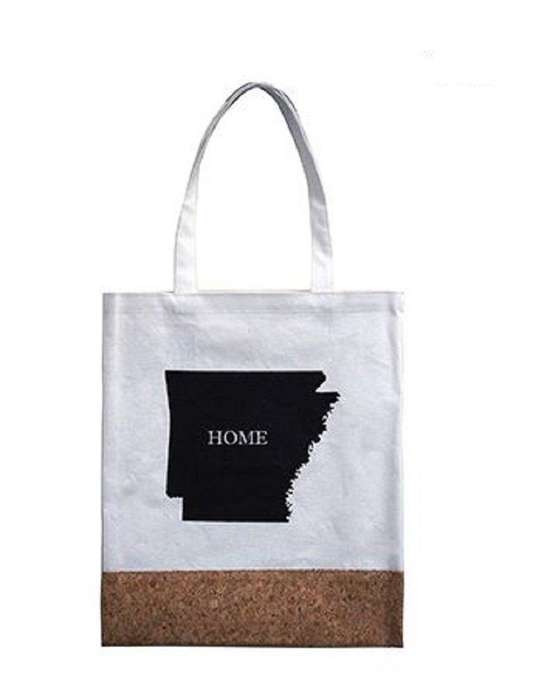 RI001 Arkansas Home Canvas Tote Bag, 14'' x 16''.