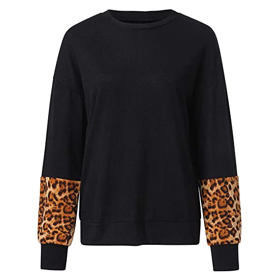 Amazon.com: DaySeventh Womens Leopard Print Long Sleeve Pullover Blouse Shirts Sweatshirt 2XL: Home & Kitchen
