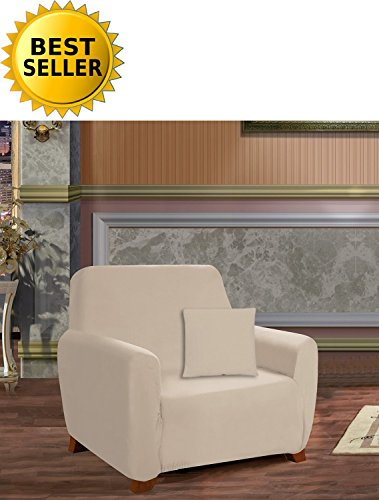 Celine Linen Collection Luxury Soft Furniture Jersey STRETCH SLIPCOVER, Chair Linen (Soft Slipcovers Jersey)