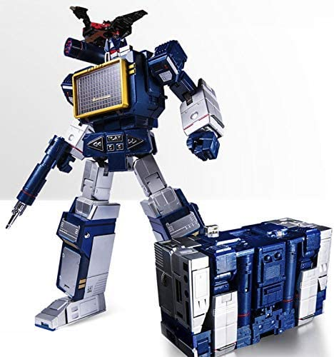 THF Transformers MP-13 Soundwave Clear Ver Cassette Tape Deck Toy Action Figure