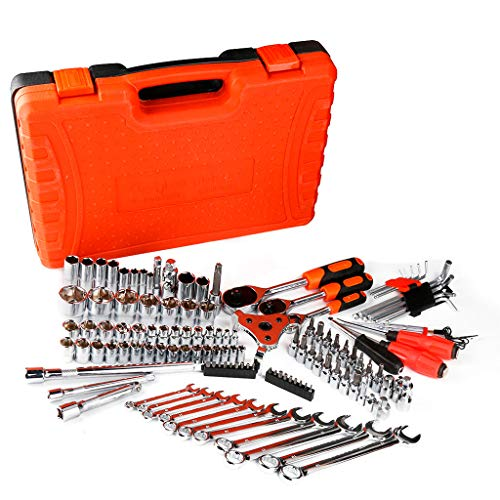 New Car Repair Kit Tool 121 PCS Mechanics Tool Set with Tool Box from US Stock Red