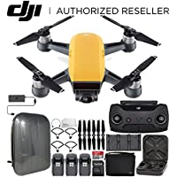 DJI Spark Portable Mini Drone Quadcopter Fly More Combo Hardshell Backpack Ultimate Bundle (Sunrise Yellow)