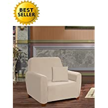 Elegant Comfort Collection Soft Furniture Jersey Stretch Slipcover, Chair Linen