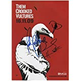 Them Crooked Vultures Autographed Signed A4 21cm x 29.7cm Poster Photo by Unknown