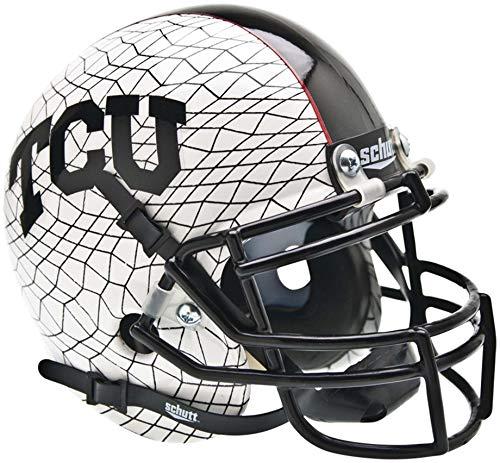 TCU Horned Frogs Schutt Crosshatch Mini Football Helmet - College Mini Helmets