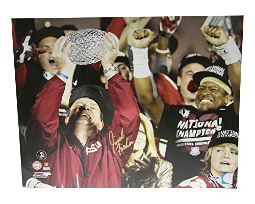 Jimbo Fisher Autographed 16x20 Photo Florida State Seminoles 2013 National Champs - PSA/DNA Certified