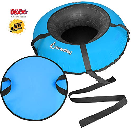 Bradley Heavy Duty Snow Tube with 50 Cover Rubber Inflatable Sledding Tubes