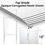 25 Pack of H-Stakes with 18x24 4mm Sign Blanks