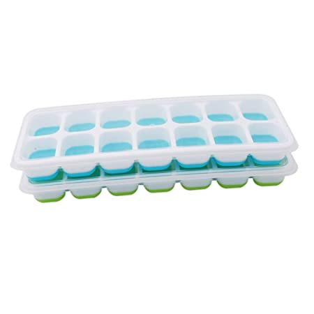 JIFNCR - Cubitera con Tapa para el congelador, bebés, Comida, Agua ...