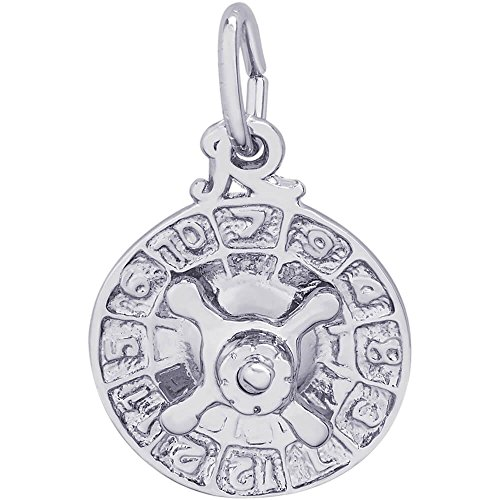 Rembrandt Charms Roulette Wheel Charm, Sterling Silver (Sterling Silver Roulette)