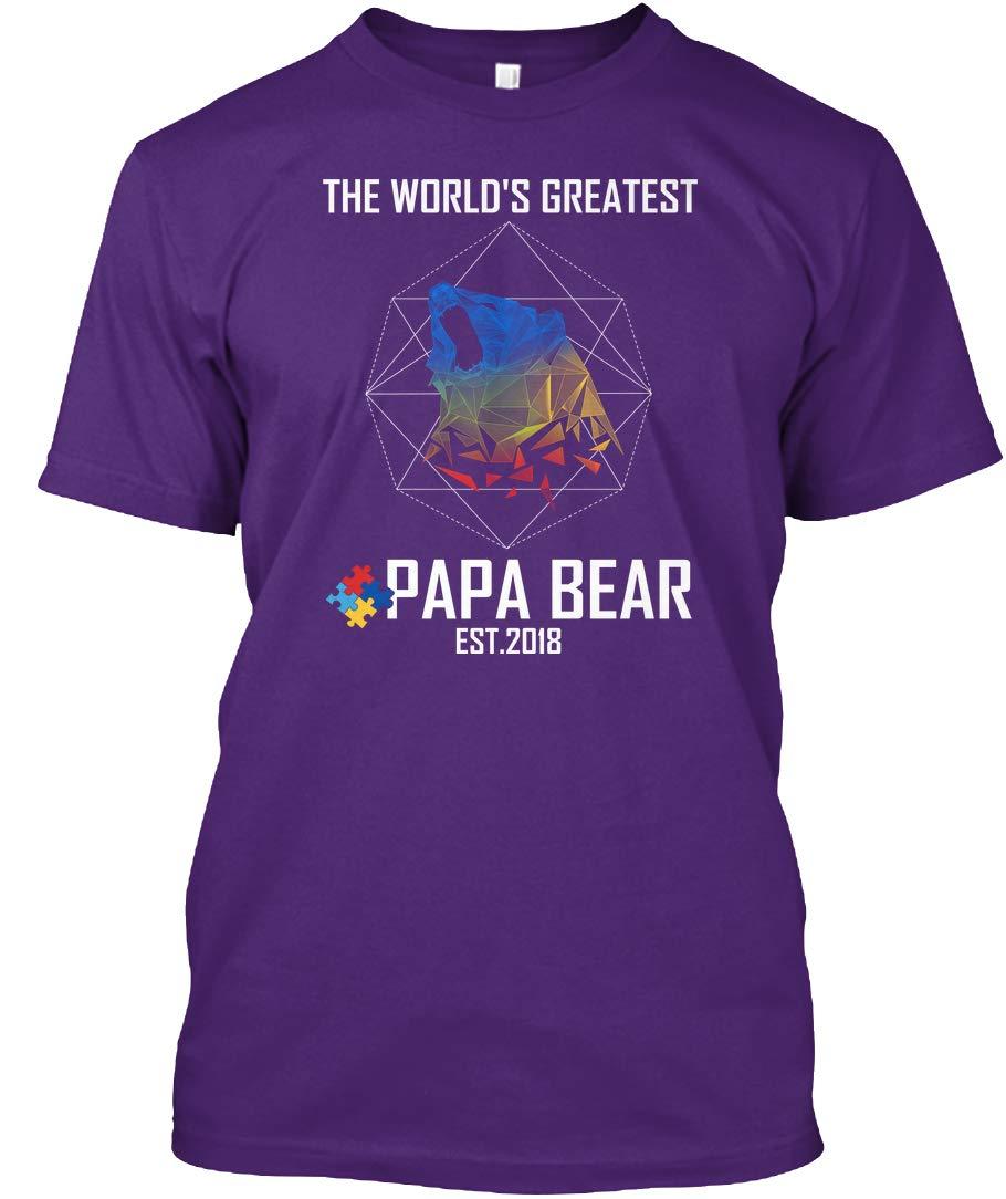 Geometric Autism Great Papa Bear 2018 Tshirt Tagless Tee