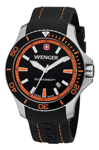 Wenger Herren-Armbanduhr XL Seaforce Analog Quarz Silikon 01.0641.102