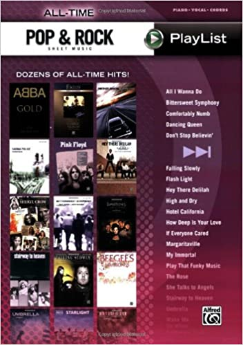 All Time Pop Rock Sheet Music Playlist Dozens Of All Time Hits