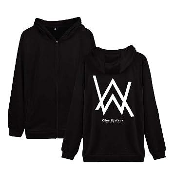 HOOMOLO Unisex Alan Walker Abrigo con Capucha Cardigan Fashion Hoodie Outwear Ocasionales Abrigos Finos para Hombre y Mujer: Amazon.es: Equipaje