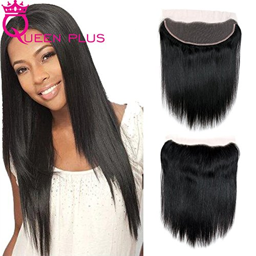 Queen Plus Hair Dyeable Silky Straight Weave 3 Bundles with Handmade Full Lace Frontal Closure 13x4