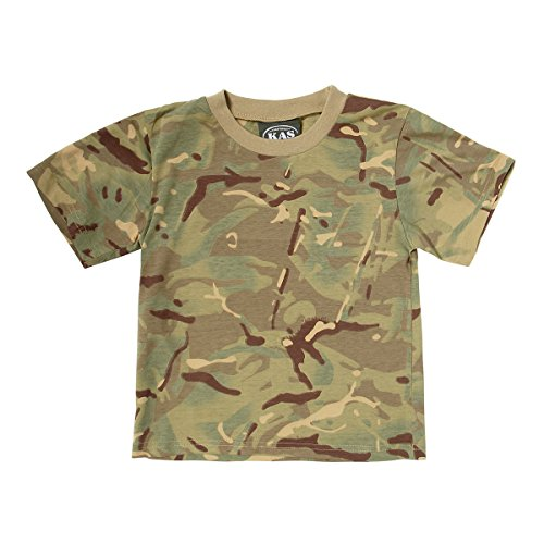 5130175f20 Kids Army MTP Camouflage Cotton T-Shirt - Multi Terrain Camo Ages 3 - 13  Years - Buy Online in Oman. | Clothing Products in Oman - See Prices,  Reviews and ...