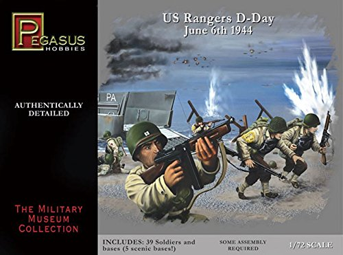 D-Day US Rangers Normandy June 6, 1944 Soldiers Set (39) (Plastic Kit) 1-72 Pegasus from Pegasus Hobby