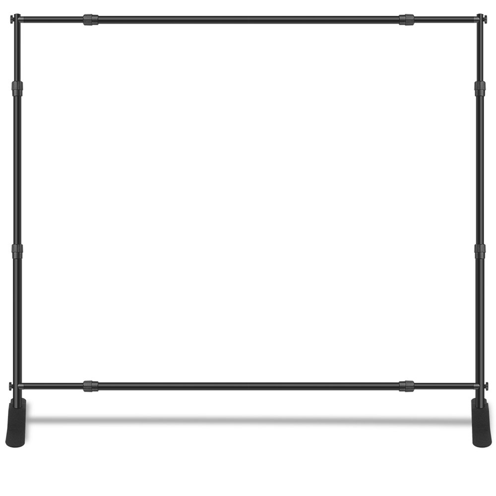 Wall26 Professional Large Tube Telescopic Tube for Photography Backdrop | Trade Show Display - 10'x8' by wall26