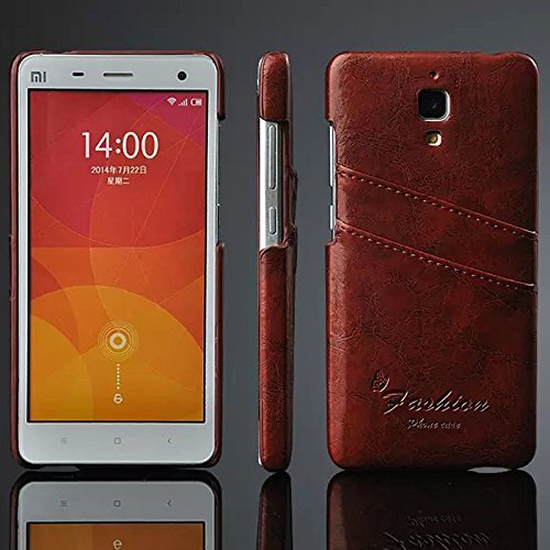 new style 85481 47807 Excelsior Premium Fashion Leather Cover Case for Xiaomi Mi 4 - Brown