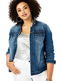 Women's Plus Size Essential Denim Jacket