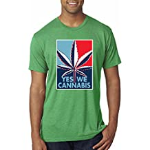 Yes We Cannabis   Poster Parody   Mens Weed Premium Tri Blend T-Shirt