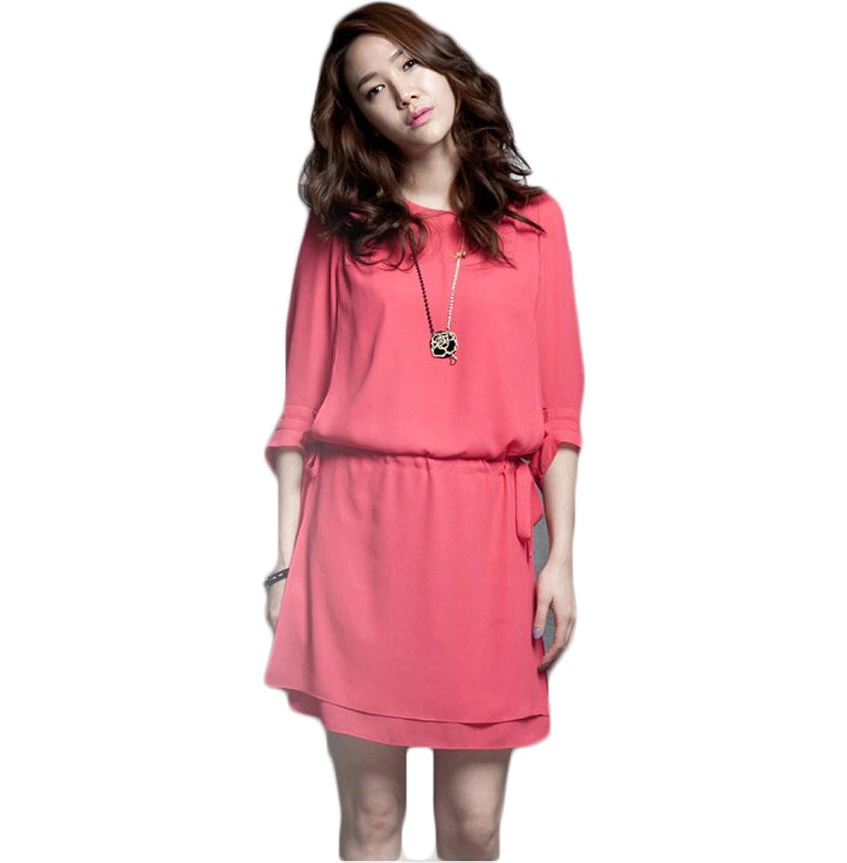 Nanxson(TM) Women's 1/2 Long Sleeve Casual Loose Dress Plus Size LYQ0132