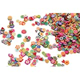 1000pcs Clay 3D Fruits Slices Nail Art Decorations - Assorted By Cool Shiny