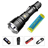 E LED XHP35 Hi D4 1600 Lumen Magnetic-Charging Extended Reach Tactical Flashlight Waterproof LED Flashlight Torch with 3600mAh Battery