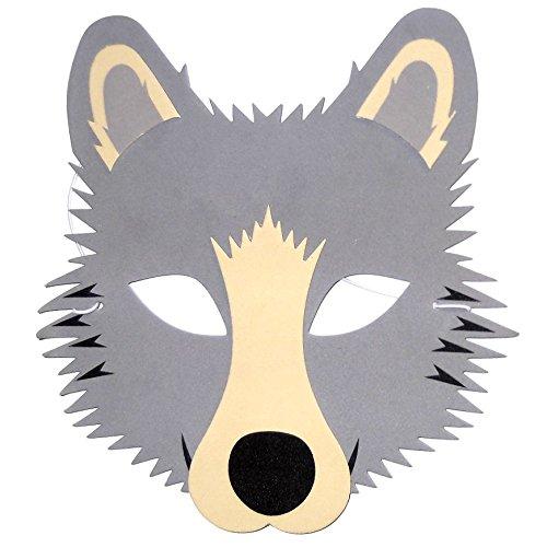 /hergestellt von Frosch blau Spielzeug 6/grau Wolf Schaumstoff Kinder Face Masken/