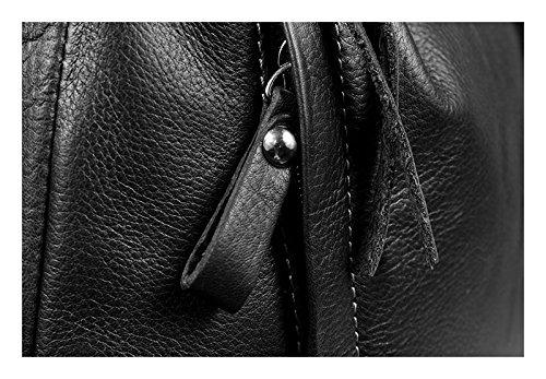 Schöne praktische Leder Schwarze Handtasche aus Leder Gloria Nera über die Schulter