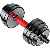 Featol Adjustable Dumbbells Set Total 77.2 Lbs (38.6lbs X 2pc) (Black)