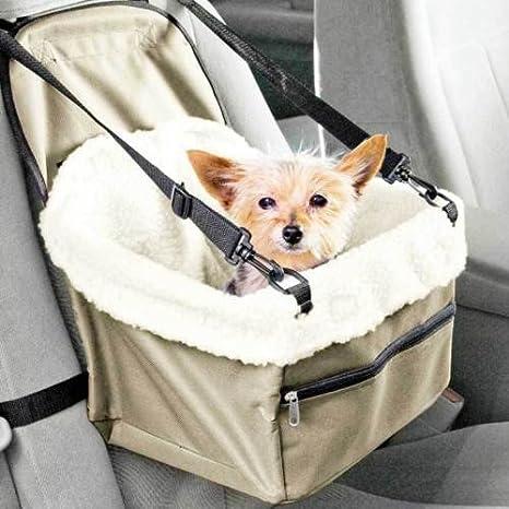 Transportín de coche con asiento para perros y gatos, cesta con ...