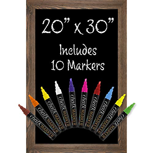 - Rustic Brown Magnetic Wall Chalkboard Sign: Includes 10 Liquid Chalk Markers 20