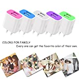 Frerush [5-Pack] 2A 5V 2 USB Port Colorful Wall Travel Home Charger Plug Power Adapter for iPhone 7 SE 6 6s Plus, iPad, Galaxy Series, Note Series, Nexus, Bluetooth Speaker Headset