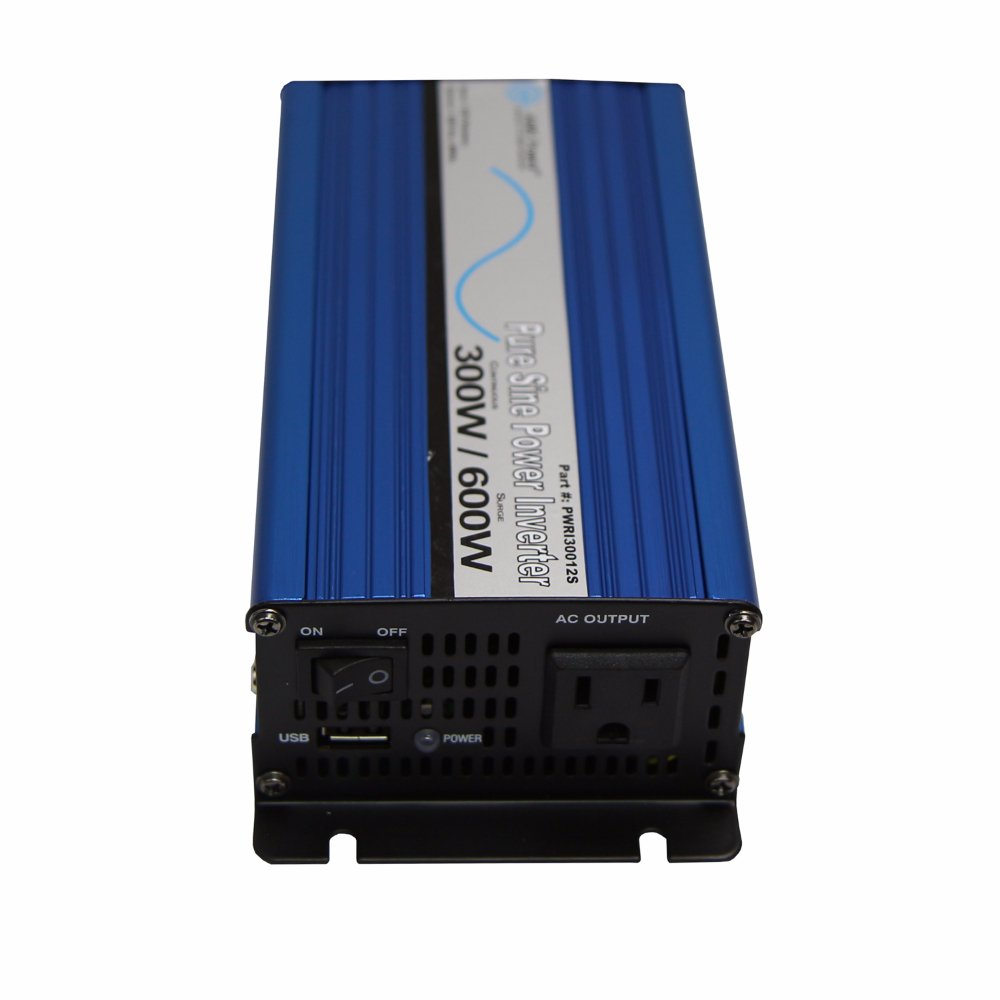 Aims Power Pwri30012s Pure Sine Inverter 300w How To Build A100 Watt Wave Circuit Homemade Continuous 600w Surge Peak Usb Port Load Based Fan Only