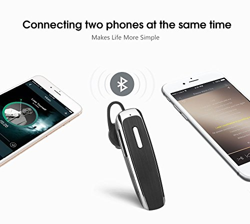 Fuleadture Bluetooth Headset, Wireless Bluetooth V4.0 In Ear Earbuds Noise Reduction Earphones with Mic Hands Free for iPhone, Samsung and Other Smartphones - Black