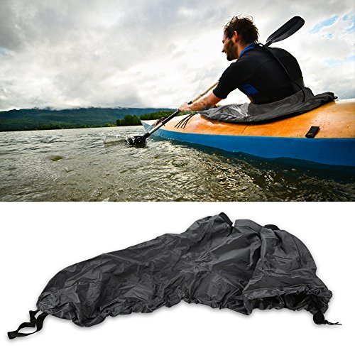 Tbest Kayak Sprayskirt Cover,Universal Nylon Marine Boat Canoe Kayak Splash Spray Skirt Deck Sprayskirt Waterproof Cover (Gray)