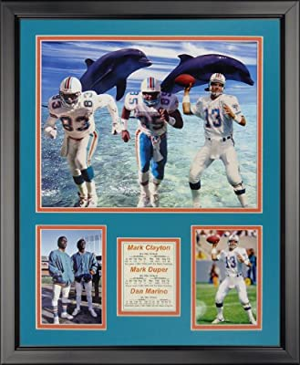 "1980's Miami Dolphins 16"" x 20"" Framed Photo Collage by Legends Never Die, Inc. - Big Three"
