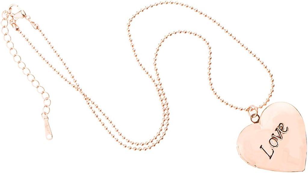CUTICATE Mini Love Heart Geometric Fashion Classic Valentine Birthday Photo Locket