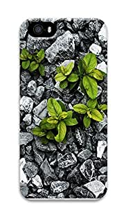 iPhone 5 5S Case Nature Rock Plants 3D Custom iPhone 5 5S Case Cover