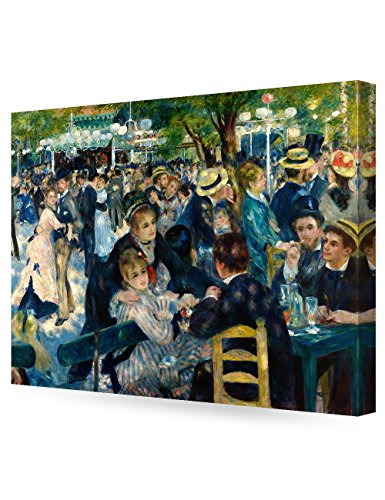 DECORARTS - Bal du Moulin de la Galette, Pierre-Auguste Renoir Art Reproduction. Giclee Canvas Prints Wall Art for Home Decor 30x24 x1.5