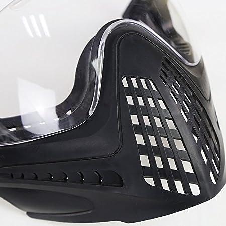 H Monde EU Int/égr/é Tactique Airsoft Painball Full Face Canard Piloteer Casque de Protection avec Amovible Face Shield