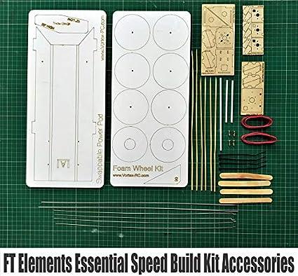 Vortex-RC FliteTest FT Elements Essential Speed Build Kit Accessories - 15  Pieces Laser Cut (White)